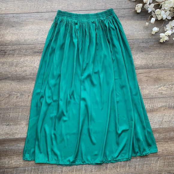 1f526709 Kathie Lee Collection Skirts | Vintage Kathie Lee Green Maxi Skirt ...